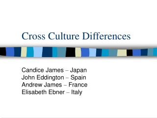 Cross Culture Differences