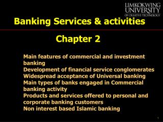 Banking Services & activities