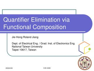 Quantifier Elimination via Functional Composition