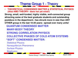 Theme Group 1 - Theory