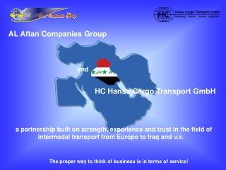 AL Aftan Companies Group and HC Hansa Cargo Transport GmbH