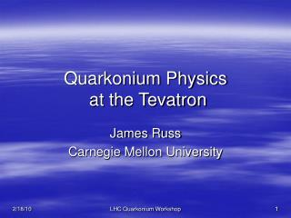 Quarkonium Physics  at the Tevatron