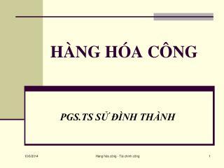 HÀNG HÓA CÔNG