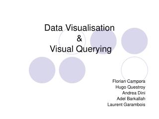 Data Visualisation  &  Visual Querying
