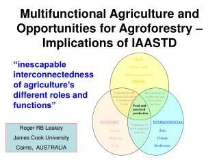 Multifunctional Agriculture and Opportunities for Agroforestry – Implications of IAASTD