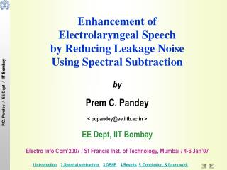 Enhancement of  Electrolaryngeal Speech  by Reducing Leakage Noise  Using Spectral Subtraction by