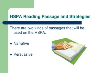 HSPA Reading Passage and Strategies