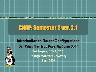 CNAP: Semester 2 ver. 2.1