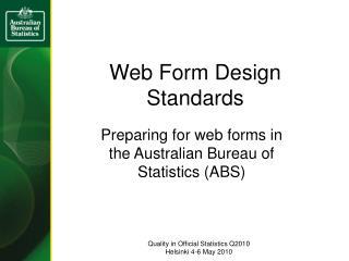 Web Form Design Standards