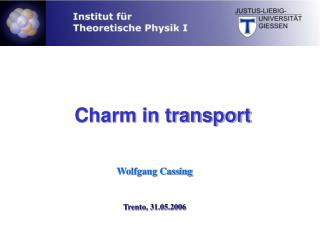 Charm in transport