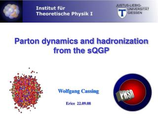 Parton dynamics and hadronization from the sQGP