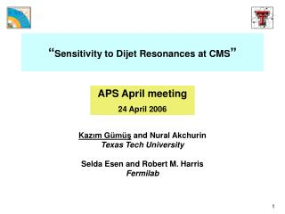 """ Sensitivity to Dijet Resonances at CMS """