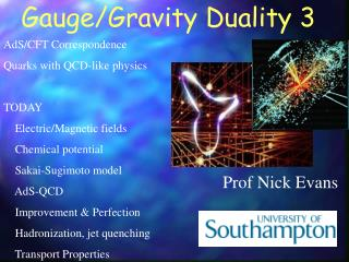 Gauge/Gravity Duality 3