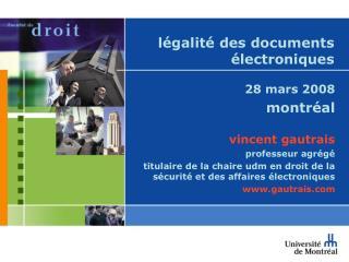 légalité des documents électroniques
