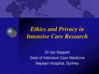 Ethics and Privacy in Intensive Care Research