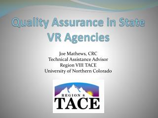 Quality Assurance in State VR Agencies