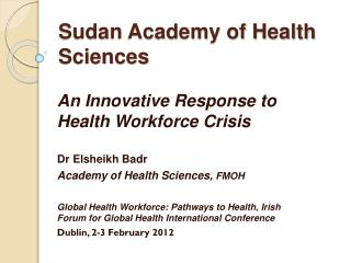 Sudan Academy of Health Sciences