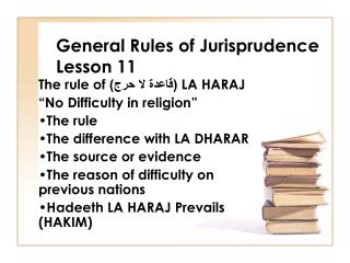 General Rules of Jurisprudence Lesson 11