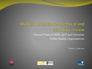 Mutual Acceptance of ethical and scientific review