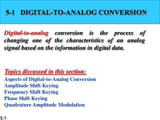5-1   DIGITAL-TO-ANALOG CONVERSION