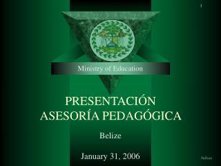 PRESENTACIÓN   ASESORÍA PEDAGÓGICA