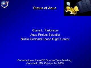 Status of Aqua