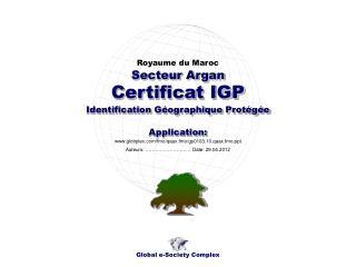 Certificat IGP