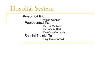 Hospital System