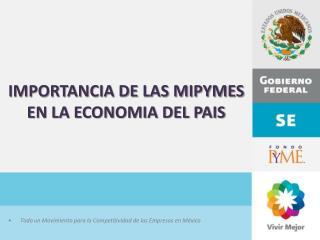 IMPORTANCIA DE LAS MIPYMES EN LA ECONOMIA DEL PAIS