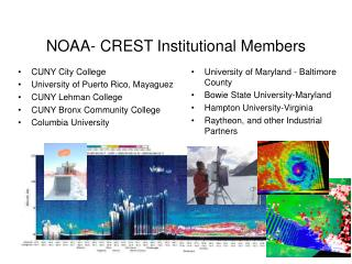 NOAA- CREST Institutional Members