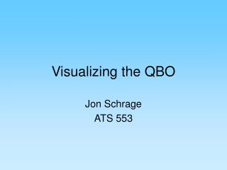 Visualizing the QBO