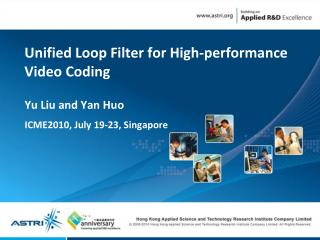 Unified Loop Filter for High-performance Video Coding