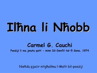 Ilħna li Nħobb