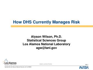 How DHS Currently Manages Risk