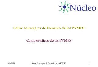 Sobre Estrategias de Fomento de los PYMES