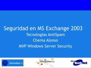 Seguridad en MS Exchange 2003