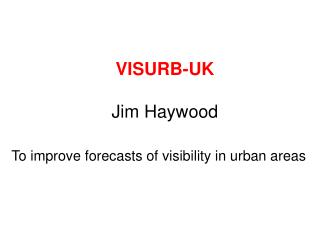 VISURB-UK Jim Haywood