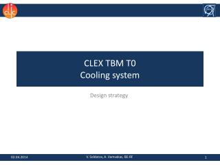 CLEX TBM T0 Cooling system
