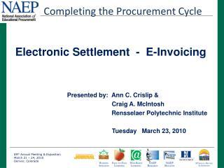 Presented by:  Ann C. Crislip &              Craig A. McIntosh