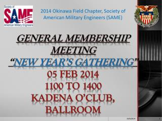 2014 Okinawa Field Chapter, Society of American Military Engineers (SAME)