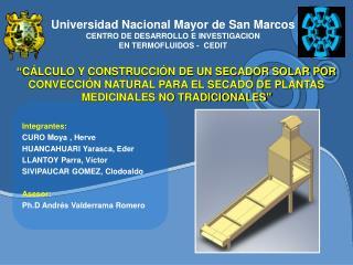 Universidad Nacional Mayor de San Marcos CENTRO DE DESARROLLO E INVESTIGACION