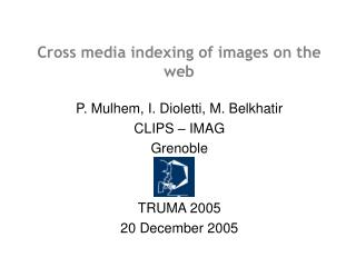 Cross media indexing of images on the web