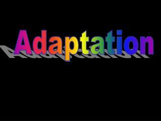 Sci6Aadaptations