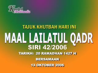 MAAL LAILATUL QADR