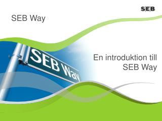 En introduktion till SEB Way