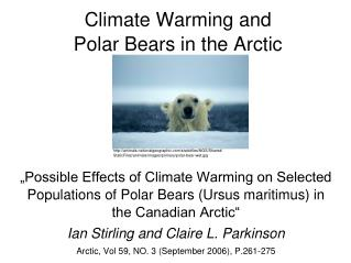 Climate Warming and