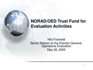 NORAD/OED Trust Fund for Evaluation Activities