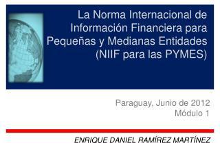 La Norma Internacional de Información Financiera para  Pequeñas y Medianas Entidades