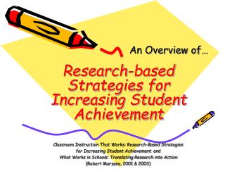 Research-based Strategies for Increasing Student Achievement