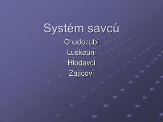 Systém savců